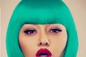 رندا البحيري بالشعر الأخضر
