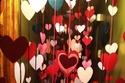 قلوب صغيرة حمراء ديكور الفالنتاين