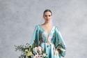 فستان أخضر مطبوع من Romona Keveza خريف وشتاء 2022