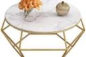 طاولات جانبية رخامية ذهبية