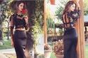 عارضة الأزياء الإيرانية ماهلاغا الجابري بتصميم من هبة القرشي