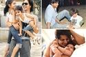 لقطات أبوية لنجوم بوليوود مع أولادهم