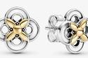 أقراط الزهرة بلونين الذهبي والفضي من Pandora