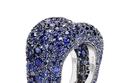خاتم حجر السافير أزرق