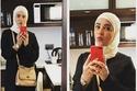تسببت صورة لإيمي سمير غانم بالحجاب في جدل حول اعتزالها الفن