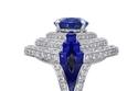 خاتم من الياقوت الأزرق من Cartier High JewelrySur Naturel
