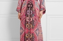 فستان وردي من إيترو