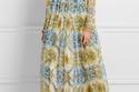 فستان باللون الأصفر والأزرق لإطلالة ناعمة من دولتشي أند غابانا