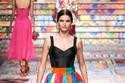 تنورة ملونة طويلة بستايل مرقع باتشورك من Dolce & Gabbana