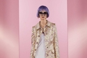 بدلة تنورة من الديباج الذهبي من Dolce & Gabbana Power Pastel