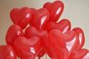 بالونات حمراء لعيد الفالنتاين