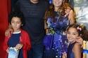 عمرو سعد وزوجته وأطفاله