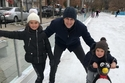 زوج ايفانكا ترامب مع ابنتهما ارابيلا وابنهما جوزيف