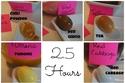 درجة اللون التي يصل إليها البيض بعد تركه في المحلول ساعتان ونصف الساعة