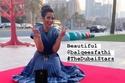 بلقيس فتحي تحتفل بنجمتها في ممشى دبي للمشاهير بإطلالة من Dior