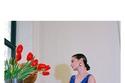 فستان أزرق أنيق بألوان نارية من مجموعة Altuzarra لخريف 2021