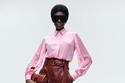 أزياء أنيقة مع قميص وردي وبنطلون جلد من مجموعة Karl Lagerfeld