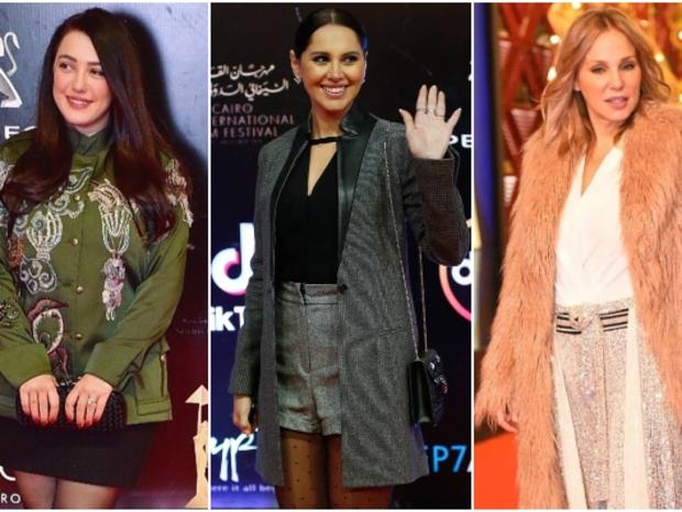النجمات يتألقن بإطلالات شتوية لافتة في مهرجان القاهرة: من الأجمل؟