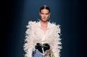 تنورة طويلة مزينة بالترتر الملون من مجموعة isabel sanchis