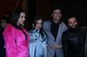 هبة مجدي مع زوجها محمد محسن في العرض الخاص
