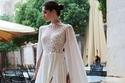 فستان زفاف كاب شيفون
