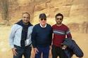 عمر خيرت في رحلته السياحية في مدائن صالح في السعودية