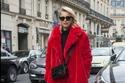 معطف فرو أحمر طويل لعيد الحب