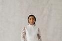 فستان زواج قصير من مجموعة Alexandra Grecco