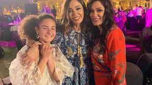 داليا البحيري تحتفل بابنة زوجها بعد تألقها في