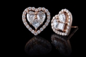 أقراط قلب الحب من مجوهرات شوكت الشامي