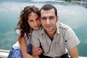 الممثلة التركية بورشين تيرزي أوغلو مع زوجها الأول مراد يلدريم