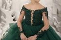 فستان منفوش أخضر