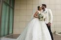 لقطات عفوية من زفاف هيفاء حسوني وبكر خالد وفستان العروس غاية في الجمال