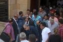 جانب من جنازة جميل راتب ويظهر مجدي صبحي وأشرف زكي وعزت العلايلي