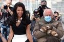 الممثلة المصرية ناهد السباعي مع السيناتور بيرني ساندرز