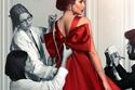 تفاصيل إطلالة ياسمين صبري بفستان أنطوان القارن في بوستر مسلسل حكايتي