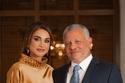 الملكة رانيا مع الملك عبد الله عام 2020