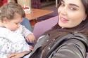 الفنانة سيرين عبد النور وابنتها