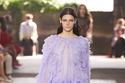فستان أرجواني شفاف من Valentino