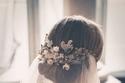 تسريحة عروس مرفوعة مع الطرحة