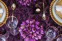 طاولة العرس ذهبي و بنفسجي   رومانسية