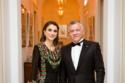 الملكة رانيا بثوب تقليدي أسود