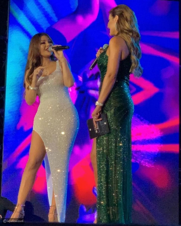 فستان هيفاء وهبي في حفل ملك جمال لبنان