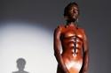 فستان بتصميم الجسم من مجموعة Schiaparelli هوت كوتور ربيع وصيف 2021