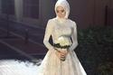 فستان زفاف محجبات من التول