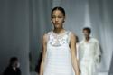 فستان أبيض شفاف مزخرف من مجموعة Fendi