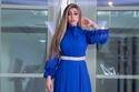 أروى ترتدي فستان أنيق باللون الأزرق مع حزام مزين