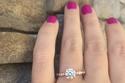 خاتم الخطوبة بالشكل البيضاوي البلاتيني الون الماس 1