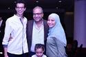 عائلة بيومي فؤاد ابنته وابنه