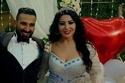 العروسان يحتفلان بعقد قرانهما في حفل عائلي
